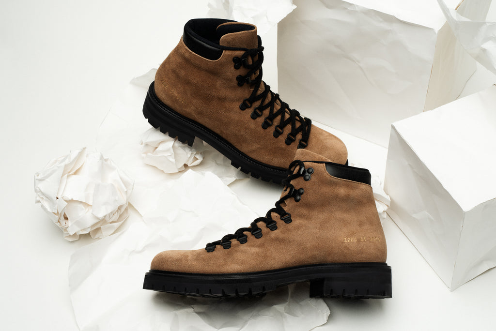 Common Projects Suede Hiking Boots
