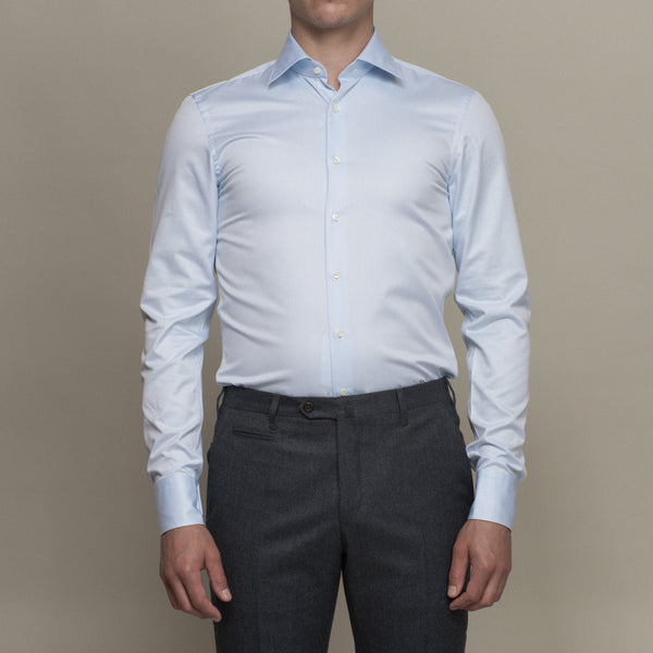 Dress shirt that's too small