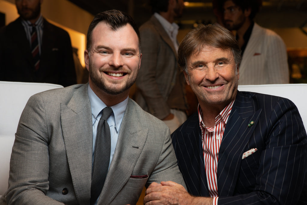 Chad Helm and Brunello Cucinelli at Pitti Uomo