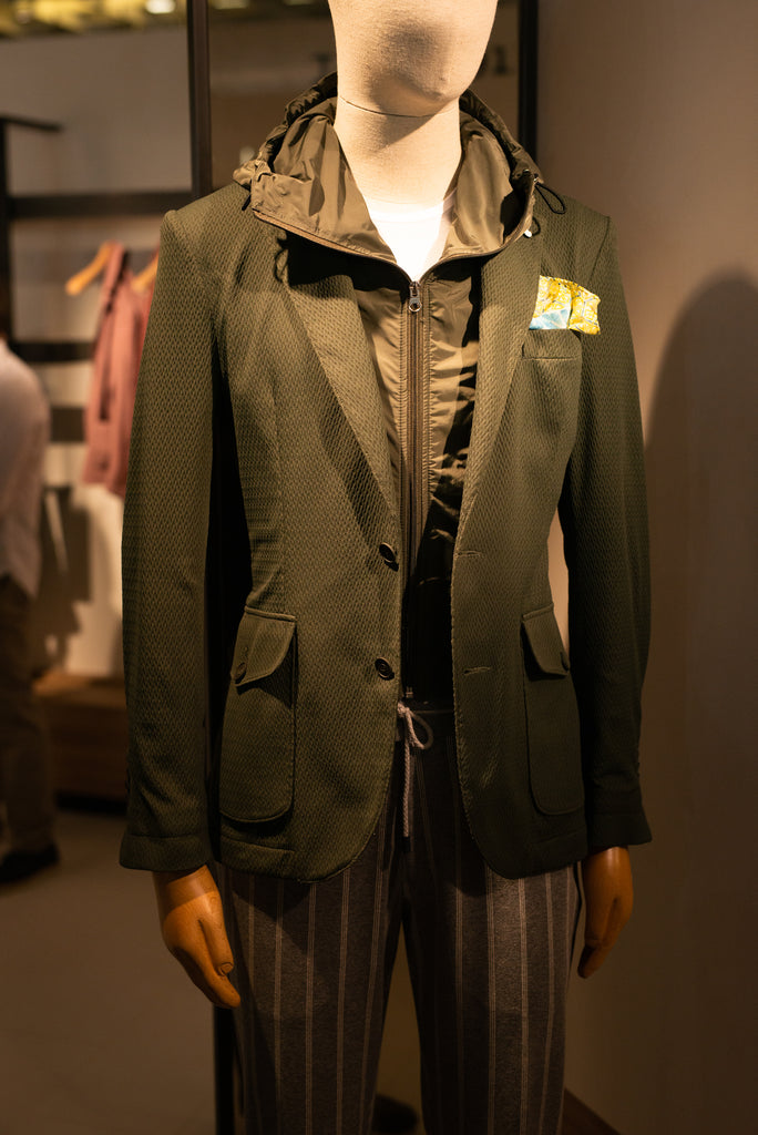 Pitti Uomo 96, 2019, technical fabric on tailored clothing
