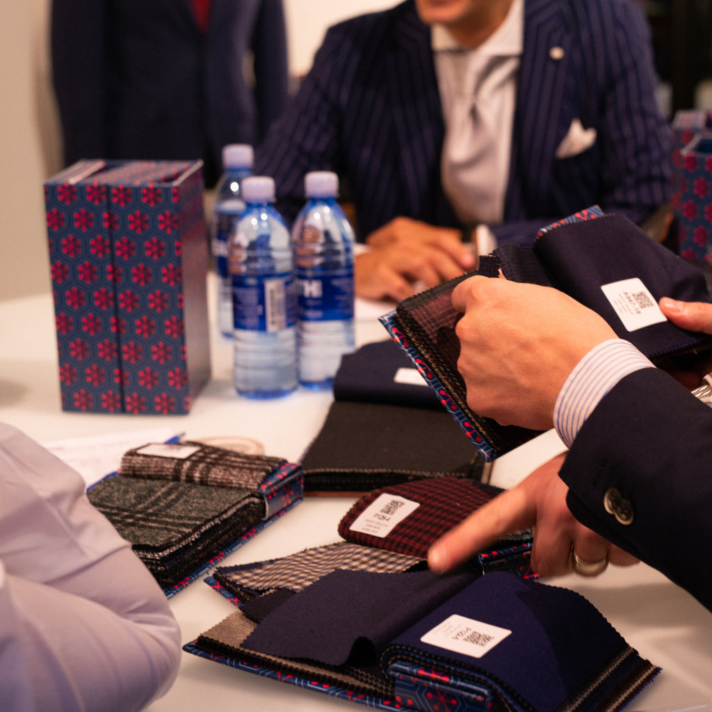 Choosing fabrics - the process of buying a new suit