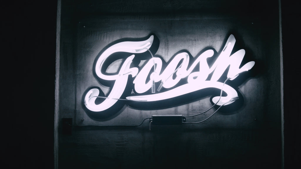 Foosh neon sign