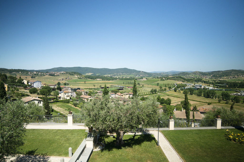 Overlooking the agricultural park in solomeo