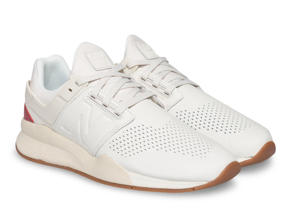New Balance 247 white sneakers