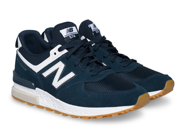 New Balance navy and white shoes