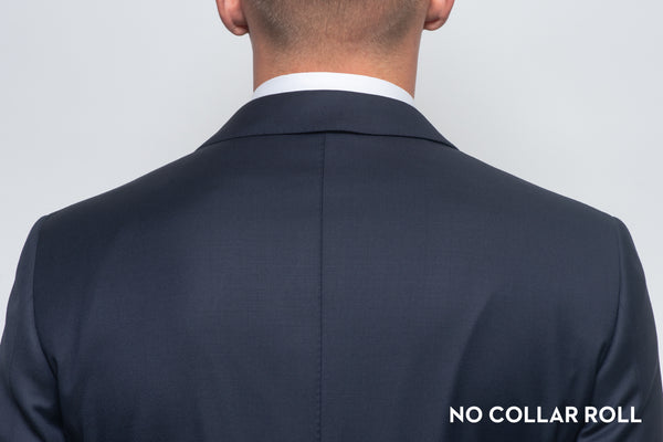 No collar roll on a suit that fits properly