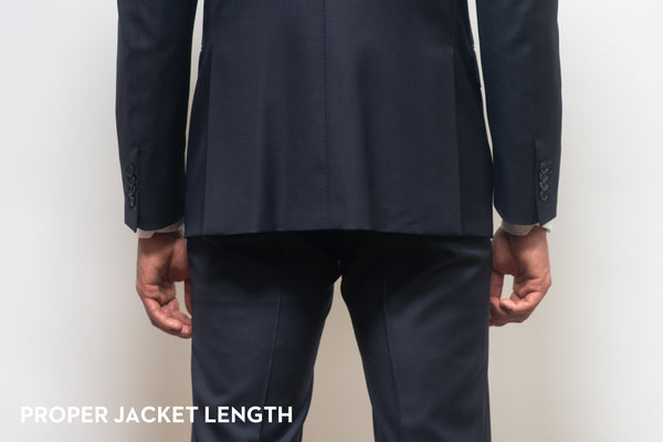 The proper length for a suit jacket