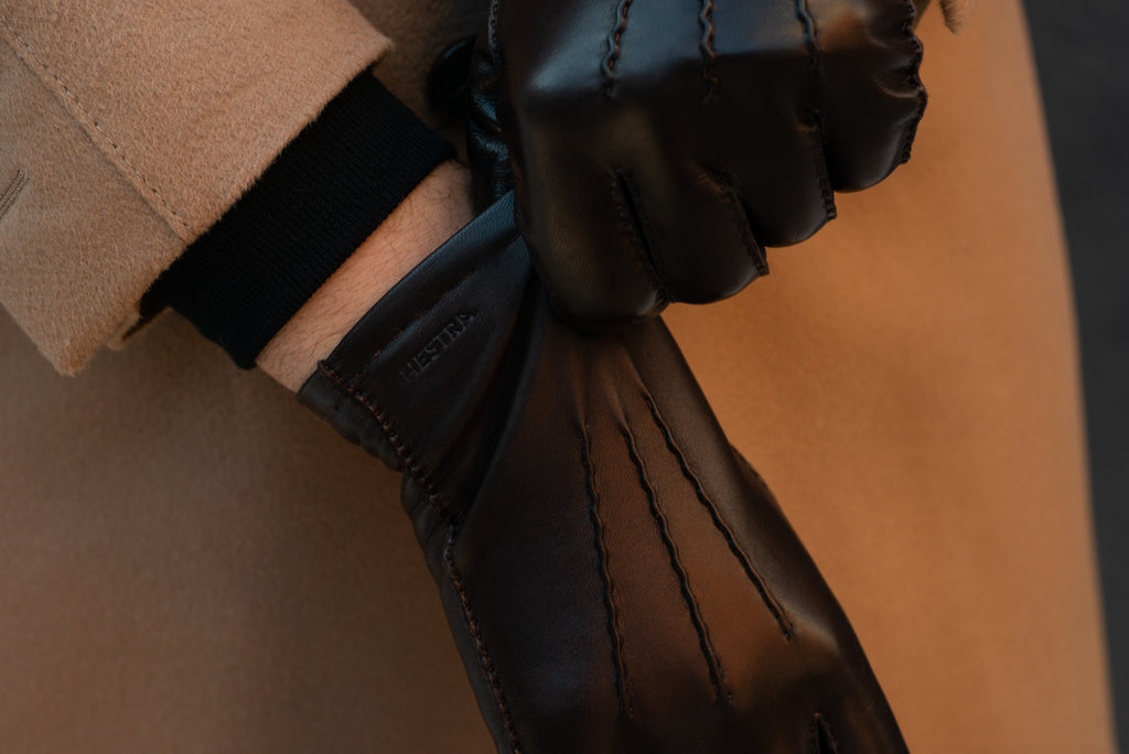 How to put on a leather glove properly