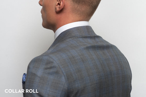 Collar roll shown on an ill-fitting suit