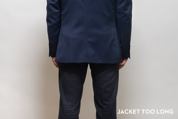 Suit jacket that is too long