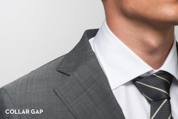 Collar gap shown on an ill-fitting suit