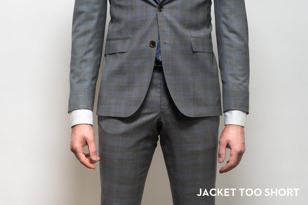 Suit jacket that is too short