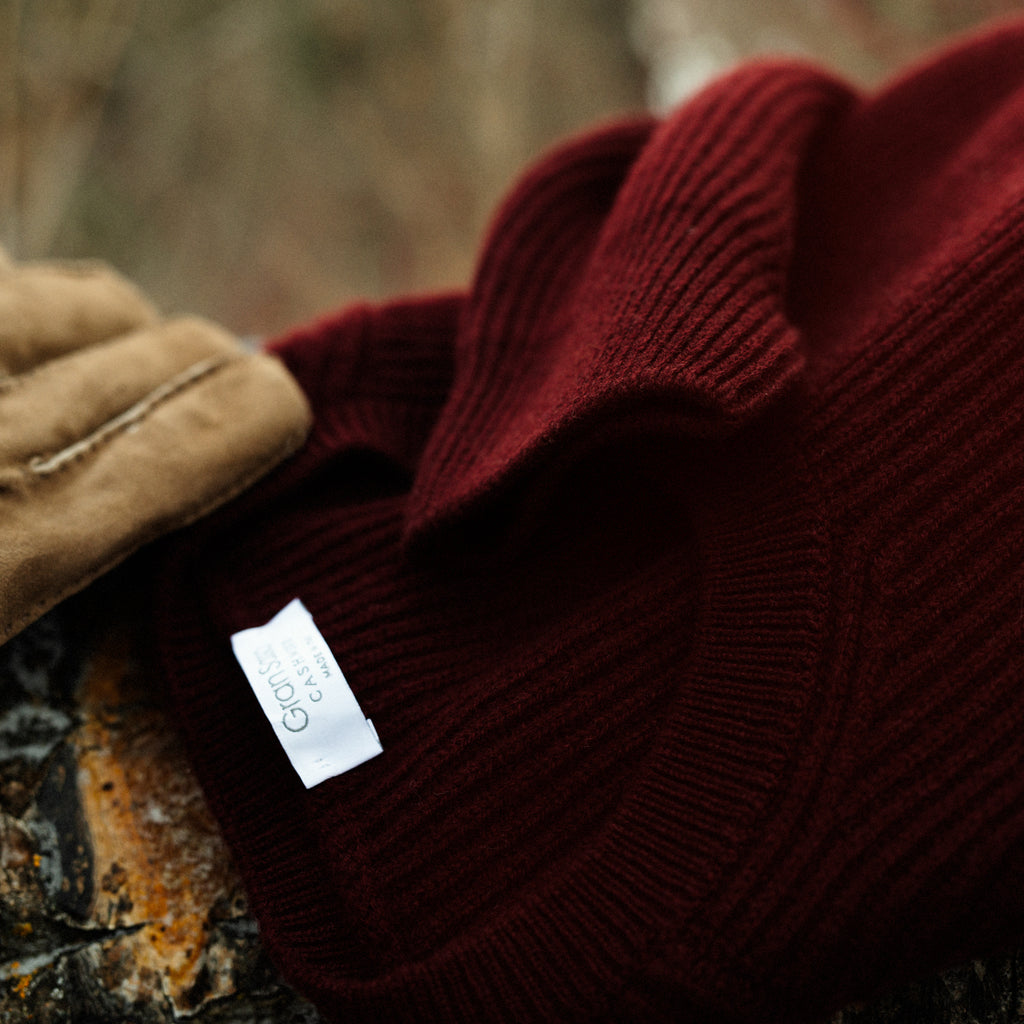 Close up of cashmere sweater