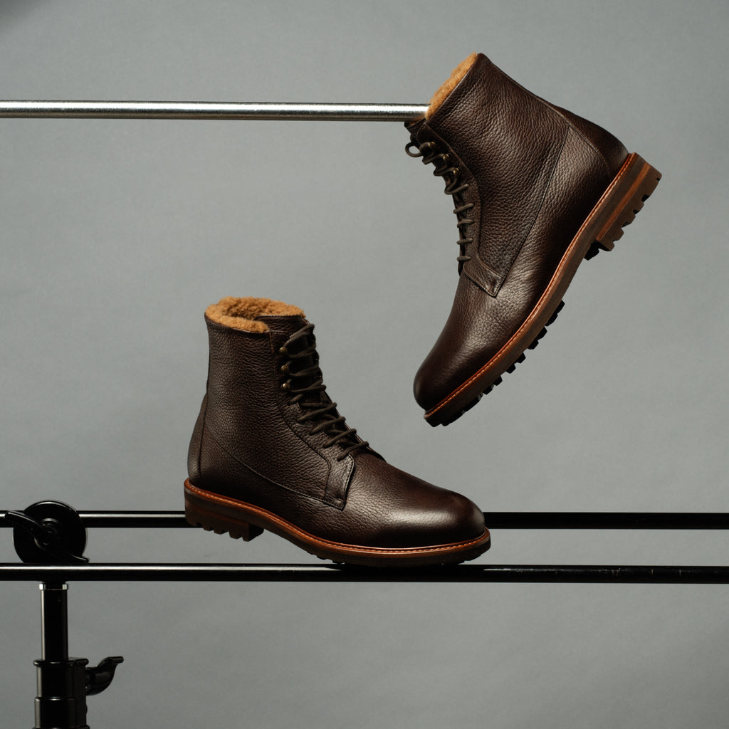 Essential winter lace up shearling boot
