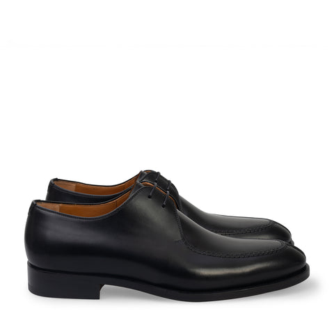 Black Two-Eyelet Derby Shoe