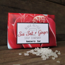 Load image into Gallery viewer, SEA SALT + GINGER Salt Bar Soap