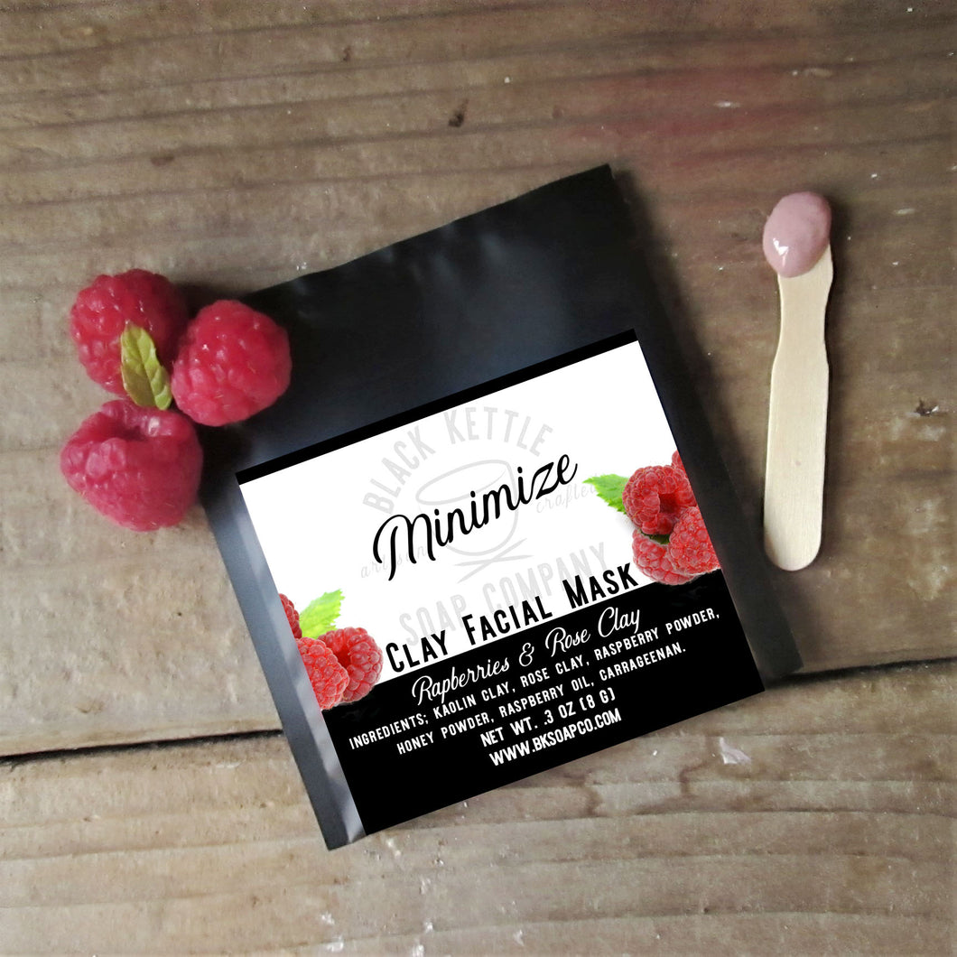 MINIMIZE Raspberry Clay Mask
