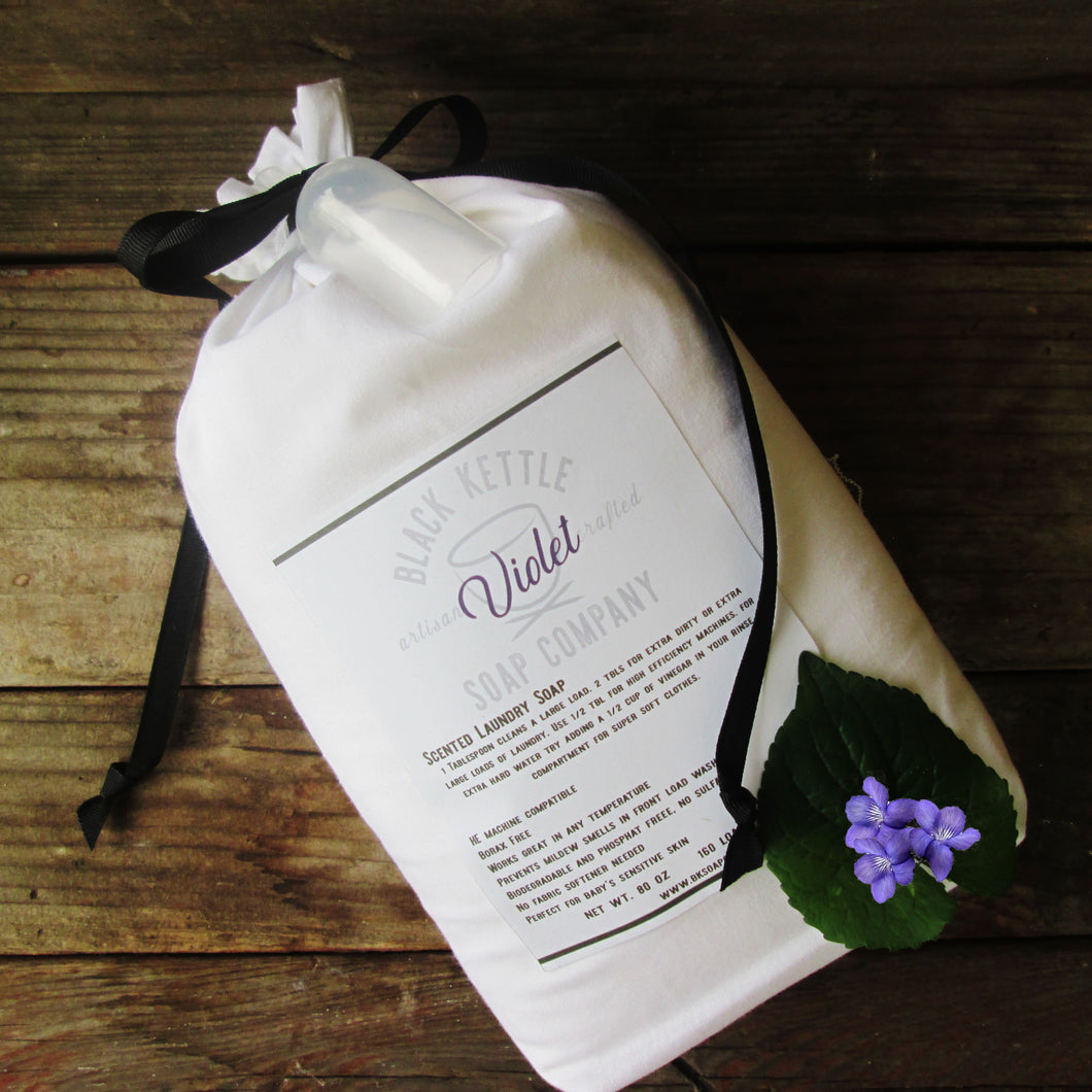 VIOLET - 5 # Cloth Bag Laundry Soap