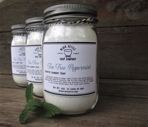 TEA TREE PEPPERMINT Mason Jar Laundry Soap