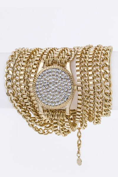 Crystal Layer Chain Bracelet