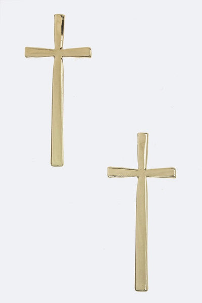 Metal Cross Earrings