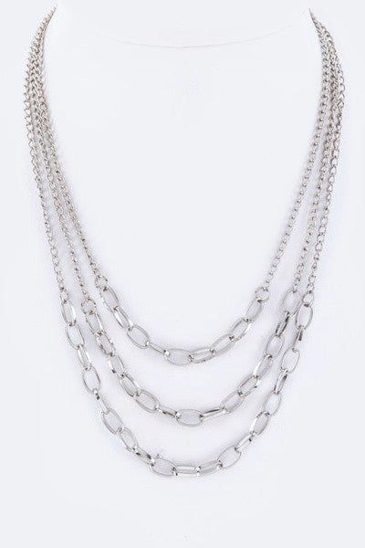 Tiered Chain Link Necklace