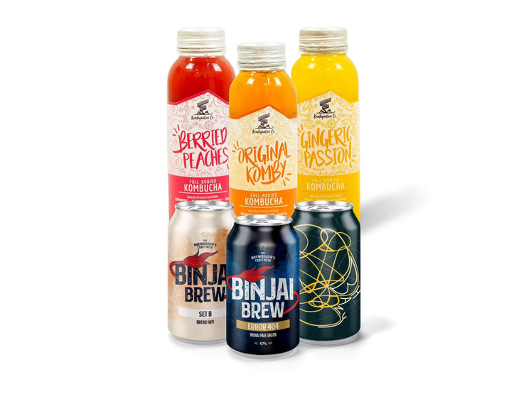 Fans of fermentation limited edition set - Kombucha X Craft beer 6 pack