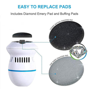 Pedi Vac - Rechargeable Callus Remover with Built-in Vacuum - BUY 1 GET 1 FREE!