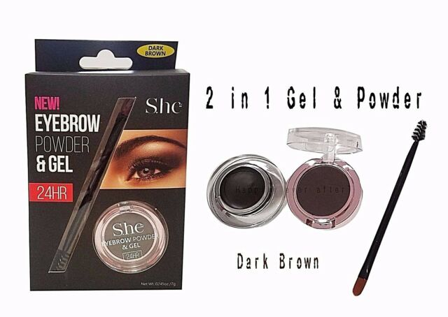 S.he NEW! EYEBROW POWDER & GEL  DARK BROWN