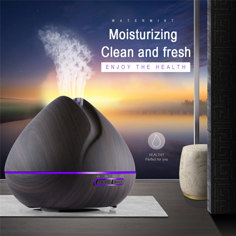 500ML Wood Grain Essential Oil Diffuser