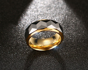 Gold  Multi-Faceted Ring
