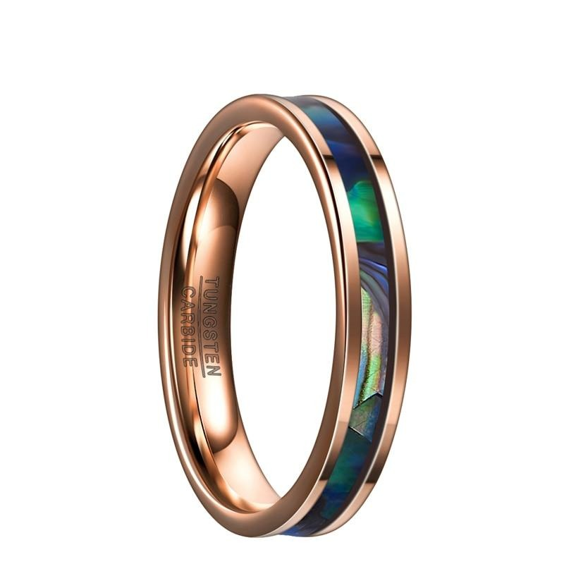 Rose Gold Abalone Ring