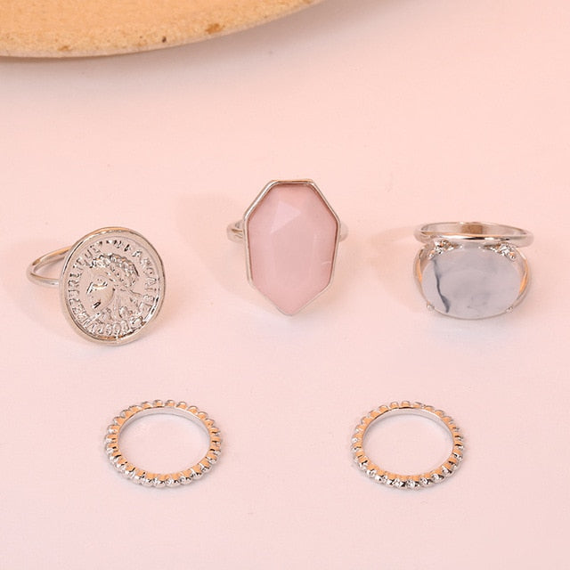 Moonstone Ring Set