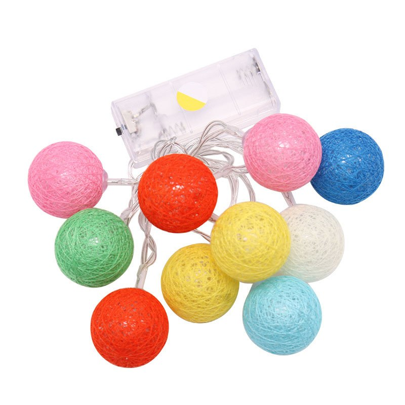 Cotton Ball Light Dry Battery String Lights