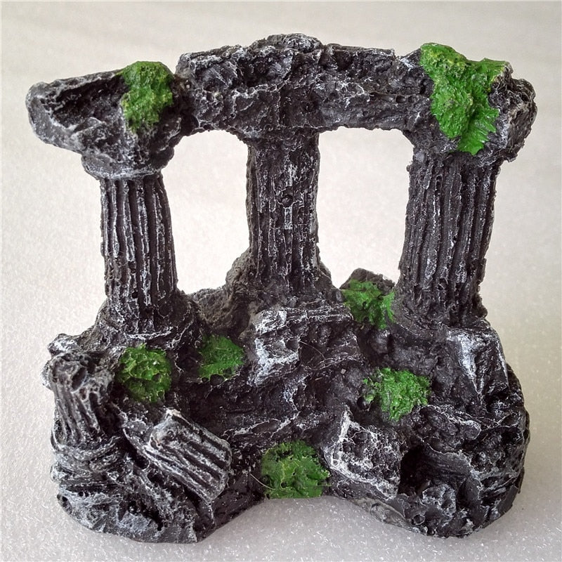 Rome Stone Pillars For Aquarium Fish Tank