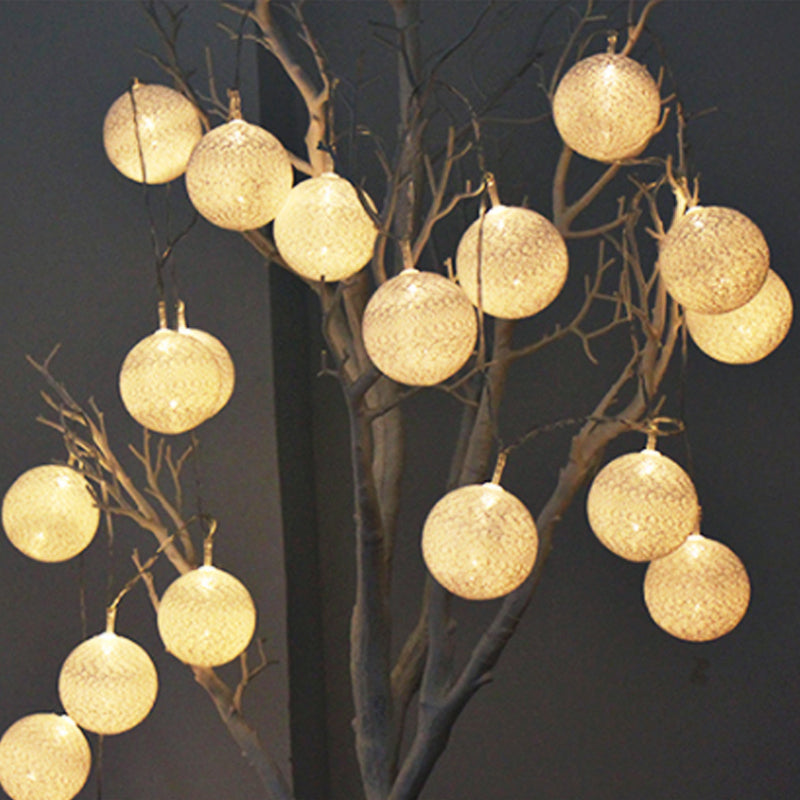 Patterned Cotton Ball String Light (20 Count)