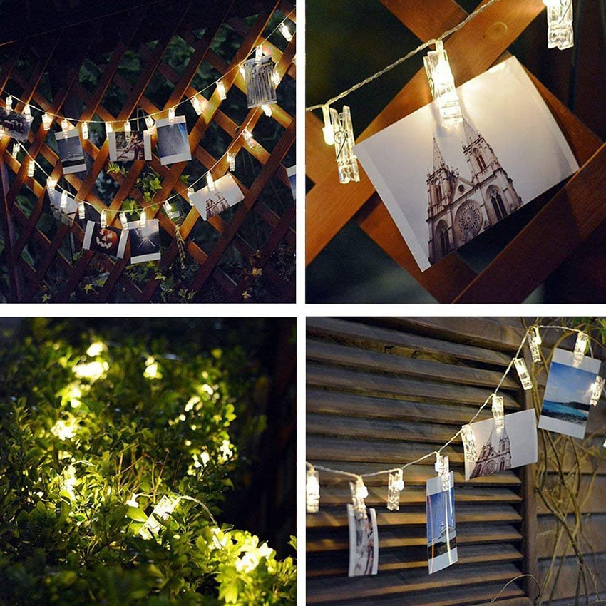 Photo Clip Holder LED String Lights