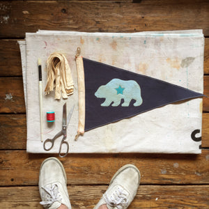 CA Bear Flag - Blue