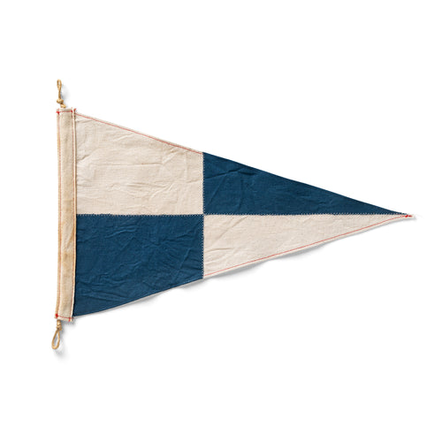 Navy Check Flag