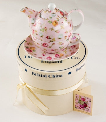 Chintz all over patterns Tea for One in gift box