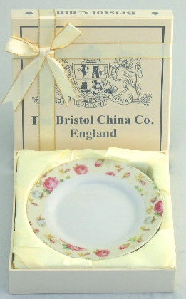 Set of 4 Chintz Cake Plates In gift box