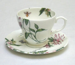 Tea Flower Cup and Saucer with Earl Grey & Marshmallow