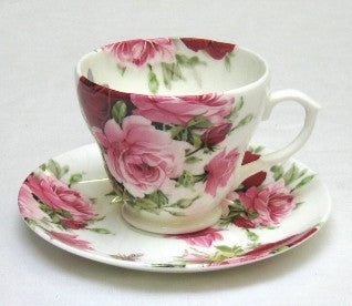 Summertime Rose Breakfast Cup and Saucer