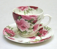 Summertime Rose Cup and Saucer