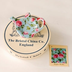 Blue Rose & Ivy Chintz Pattern