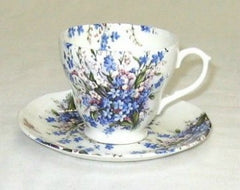 Forget-Me-Not & Lily Breakfast Cup and Saucer