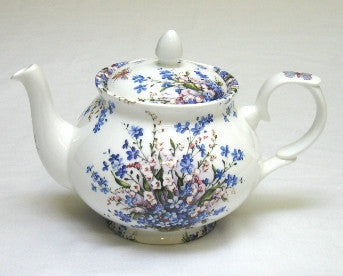 Forget-Me-Not & Lily Four Cup Teapot