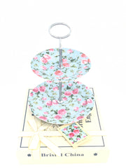 Chintz Two-Tier Cake Stand