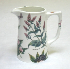 Tea Flower Large Tankard Jug with Peppermint and Florals