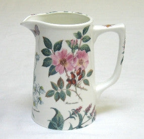 Tea Flower Large Tankard Jug with Rose Hip and Florals